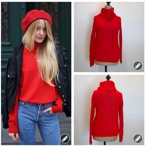 J. Crew Factory red Turtleneck sweater #3442